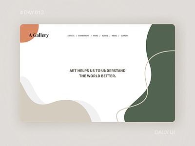 Daily UI 013 - Art Gallery Web Design line art web simple illustraion gallery art dailyui