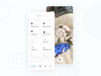 Daily UI 017 - Smart Home Pet Camera device camera pet iot smarthome dailyui