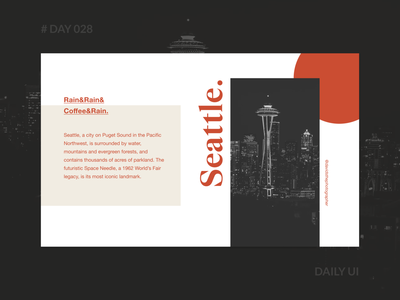 Daily UI 028 - To Seattle Web Design concept color font homepage ecommerce photography webdesign layout magazine digital seattle web dailyui