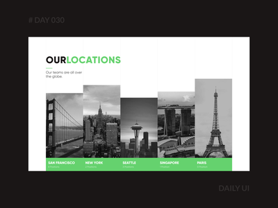 Daily UI 030 - Careers Page simple company branding webdesign lines grid dark office hiring job careers page minimal dailyui