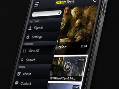 Video App UI ui app video mobile graphic design menu navigation android iphone phone textures nexus