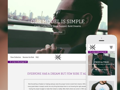Risk Everything Responsive Website website responsive html5 video ecommerce flat clean web design ui mobile jquery knock knock factory