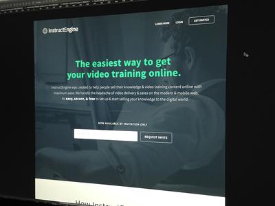 InstructEngine landing page flat web design branding homepage web site web ui minimal interface clean form