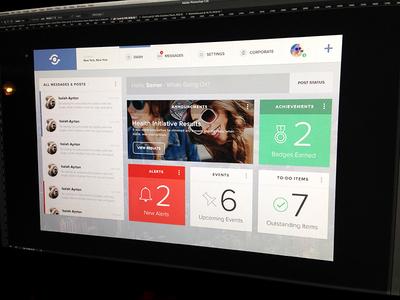 HR Dashboard Concept WIP app dashboard design ui software interface widgets hr web app flatish