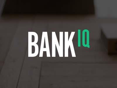 Bank IQ branding logo identity financial fintech banking