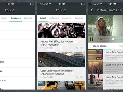 Instruct Engine iOS education mobile training video ios iphone app flat ui
