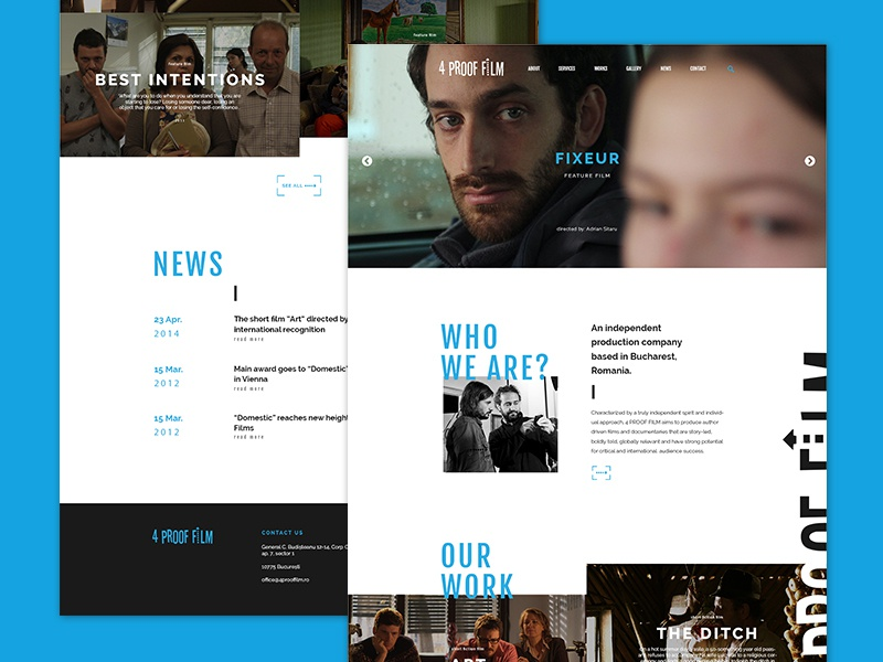Web | Romanian Film Production Company by Alexandra Chereches on