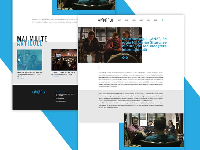 Web   Romanian Film Production Company by Alexandra