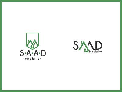 Logo Design // SAAD Immobilien contemporary redesign graphic  design real estate agency real estate brandind rebranding