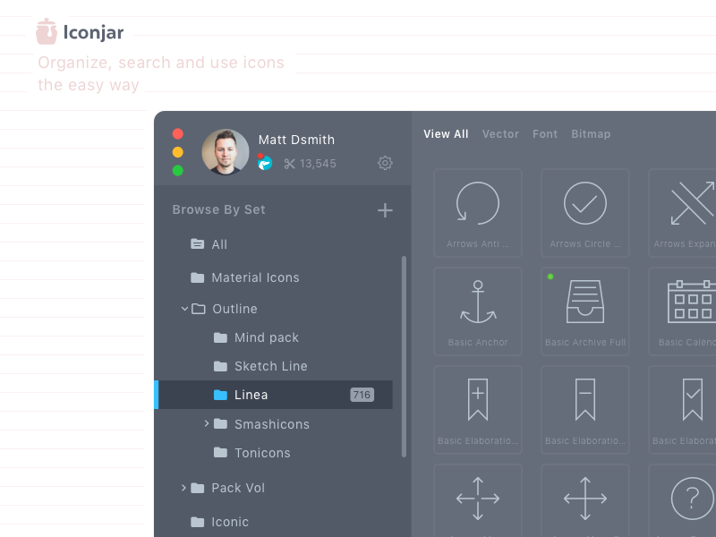 Iconjar redesign the app