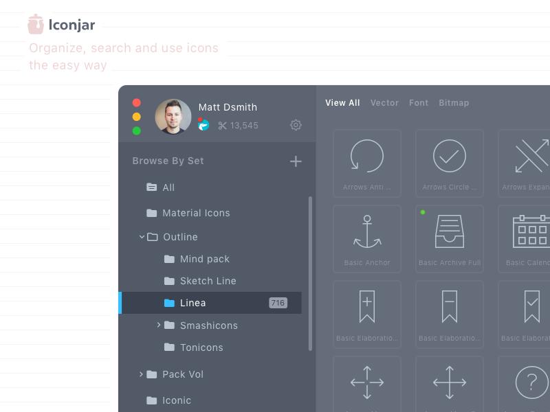 Iconjar [redesign] iconjar icons organize ux ui sketch app geticonjar