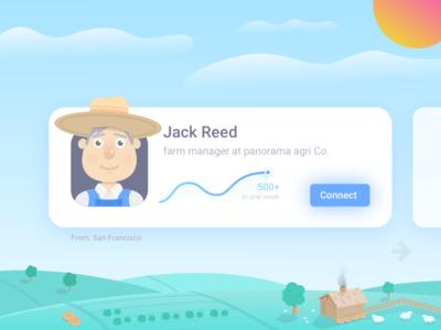 Farmer Linkedin Card #dailyui 14