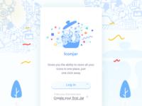 Iconjar App - Landing Screen