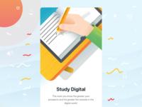 Study Digital - on boarding screen