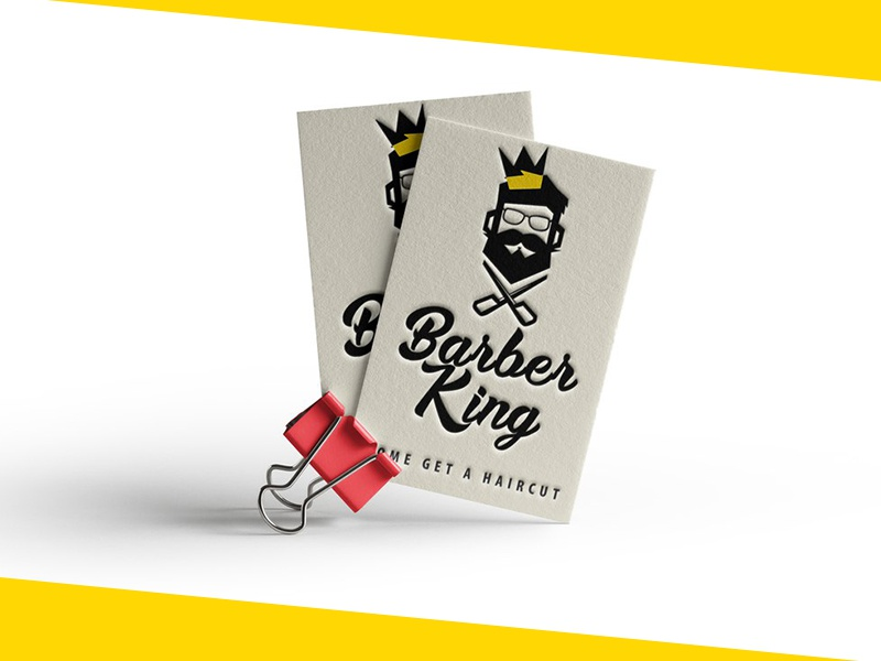 Barber king logo and business card by dmitry mikhaylov dribbble full httpsbehancegallery50343285barber king logo business card and sign design colourmoves