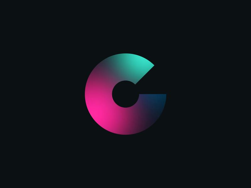 """""""C"""" Logo Concept branding design letters gradients branding brand identity brand design brand logotype logodesign gradient logos logo design turquoise blue purple logo"""
