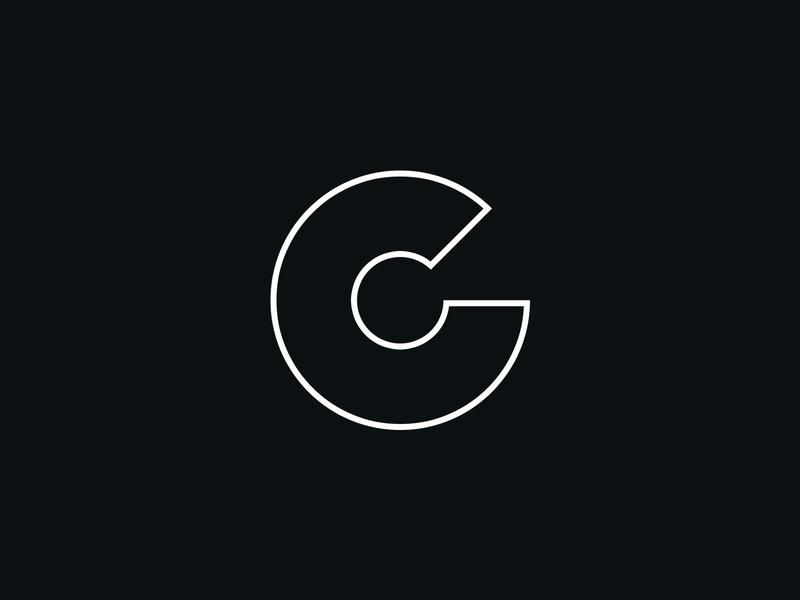 """""""C"""" Logo Concept – Black & White brand design branding brand identity logo logodesign border white black and white outline branding design"""