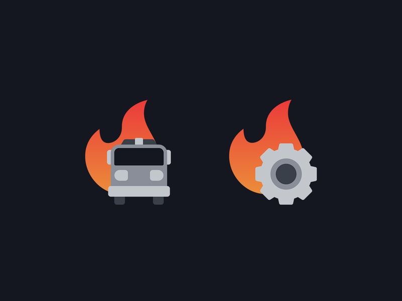 Additional Icons for Firelabs flat  design flatdesign icons iconography flat design vector icon design icon set control symbol management fire department fire truck fire orange gradient flat icon logo