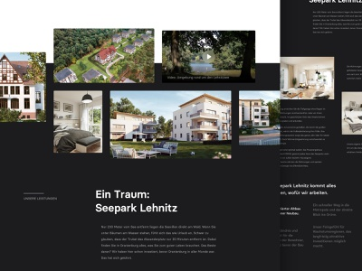 Gallery Section for Real Estate Website grid layout layout image dark theme ui dark black website design grid images gallery website webdesign