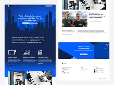 Homepage for Development Agency webdesign modern web design sunrise illustration dark blue header hero website homepage ui homepage web