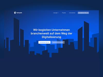 Homepage Hero dark blue homepage ui landing page homepage website illustration sunrise