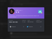 Daily UI Challenge #006 - Discord User Profile