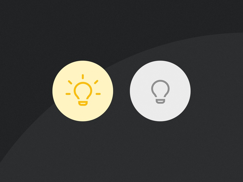 Smart Home On/Off Switch dark button switch on off round simple home smart ux ui app dailyui challenge dailyui