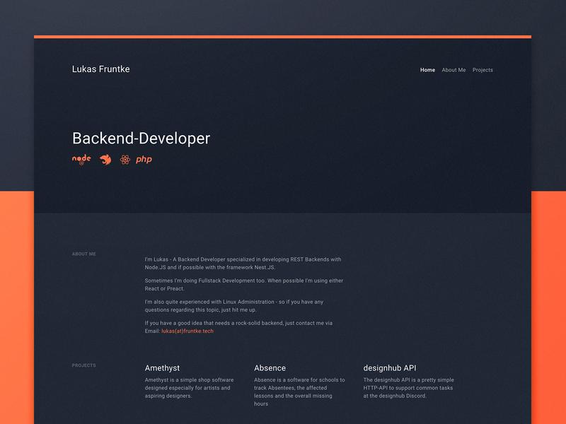Developer Website developer website design ux ui