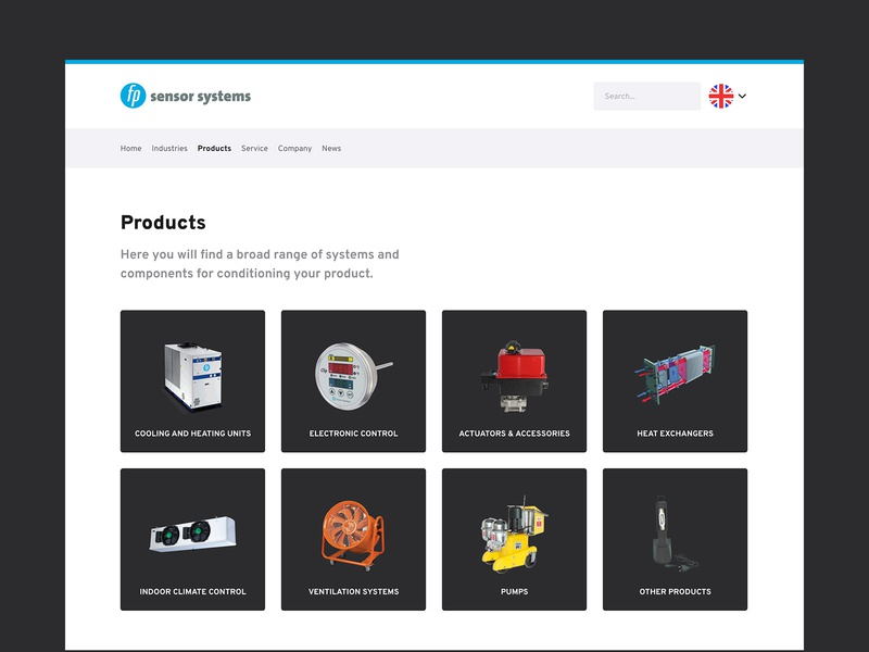 Product Categories | fp sensor systems categories products industry blue company corporate website