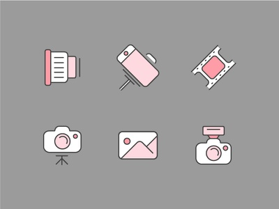 Photography Icons photography photo mobile-camera selfie-stick selfy selfie zoom lens film film-roll camera photgraphy