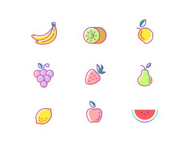 Fruit Icons Freebie