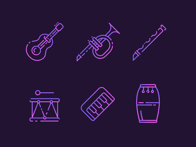 Musical Instruments Freebie musical-icon-set freebie free-icon vertical drum keyboard drum flute trumpet guitar