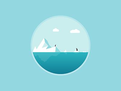 Global Warming global warming environment day water iceberg penguins illustration illustrator illustration-a-day