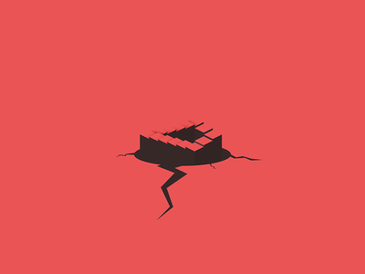 Penrose Stairs popup crack infinite staircase stairs penrose dark brown red illustration illustrator illustration-a-day
