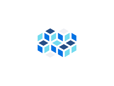 Isometric Squares white blue hexagons isometric diamonds squares illustration illustrator illustration-a-day