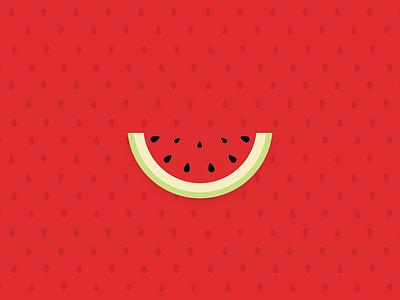 Watermelon minimal pattern fruit green red watermelon illustration illustrator illustration-a-day