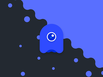 Blue Monster simple minimal cold icon ghost monster blue illustration illustrator illustration-a-day