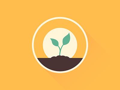 Sapling simple icon tree sapling plant design minimal illustrator illustration-a-day illustration