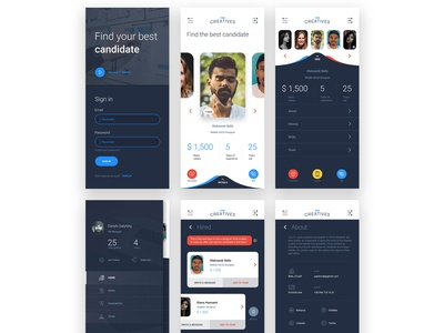 Application concept for recruters