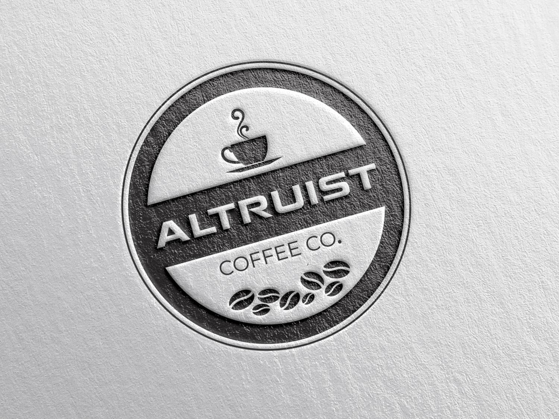 A Badge logo for Altruist coffee co. logo