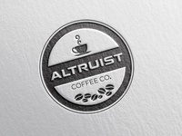 A Badge logo for Altruist coffee co.