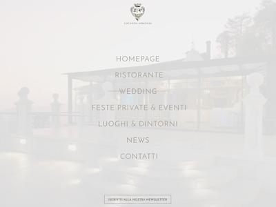 Website Overlay Menu elegant gray minimal overlay menu website