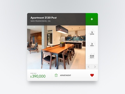 Real Estate house card for website & app ux ui minimal layout interface flat clean website application app real estate house