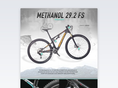 MTB Bike concept website web design web ux ui mtb interface cycling bike