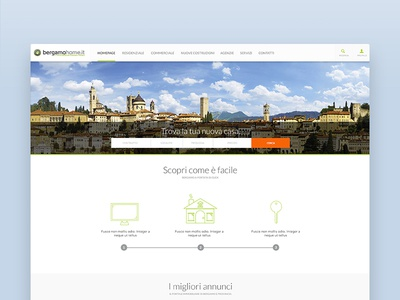 BergamoHome - Homepage website design web ux ui platform home house real-estate
