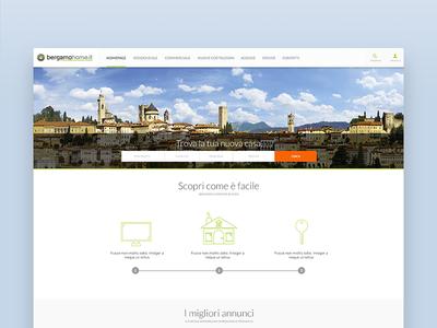 BergamoHome - Homepage website design web ux ui platform home house real-estate