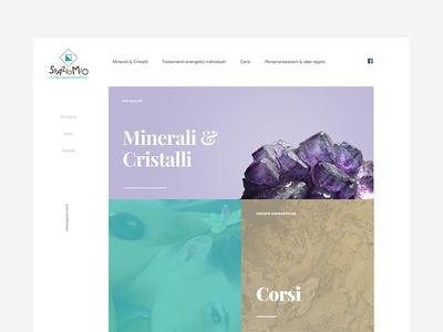 Spazio Mio - Homepage white blocks minimal shop mineral gem ui ux web design website