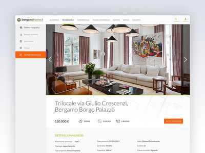 BergamoHome - Detail icons minimal clean real-estate house home platform ui ux web design website