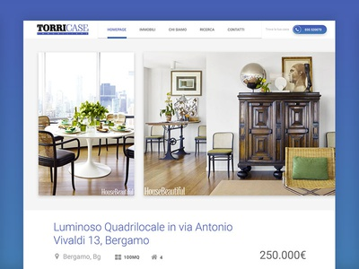 Torri Case - Real Estate Detail website design web ux ui webapp real estate gradients minimal blocks white