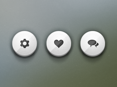 Push Buttons buttons shadows social icons freebies
